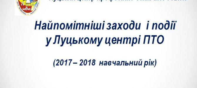 Найпомітніші заходи  і події у Луцькому центрі ПТО (2017-2018 навчальний рік)