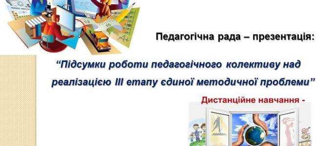 Онлайн засідання педагогічної ради-презентації
